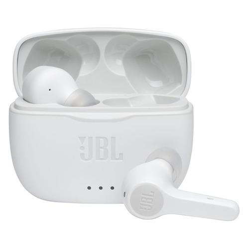 Гарнитура JBL T215 TWS, Bluetooth, вкладыши, белый [jblt215twswht]