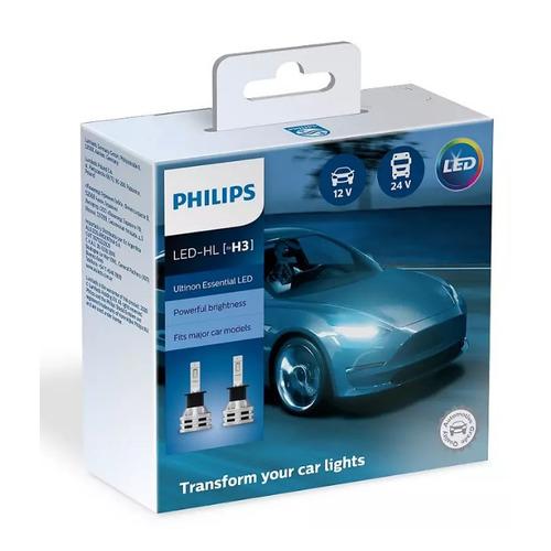 Лампа автомобильная светодиодная PHILIPS 11336UE2X2, H3, 12/24В, 19Вт, 6500К, 2шт