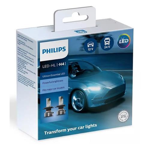 Лампа автомобильная светодиодная PHILIPS 11342UE2X2, H4, 12/24В, 21Вт, 6500К, 2шт