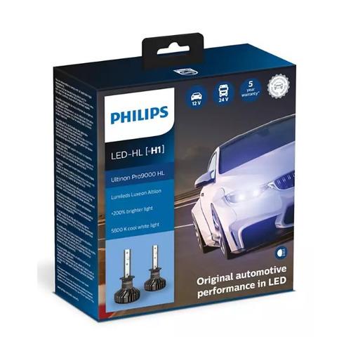 Лампа автомобильная светодиодная PHILIPS 11258U90CWX2, H1, 12/24В, 18Вт, 5800К, 2шт