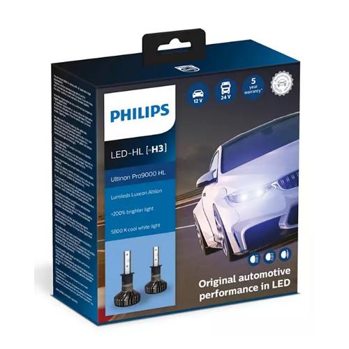Лампа автомобильная светодиодная PHILIPS 11336U90CWX2, H3, 12/24В, 18Вт, 5800К, 2шт