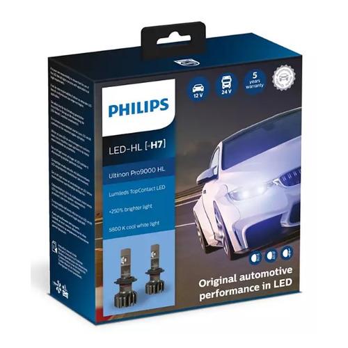 Лампа автомобильная светодиодная PHILIPS 11972U90CWX2, H7, 12/24В, 18Вт, 5800К, 2шт