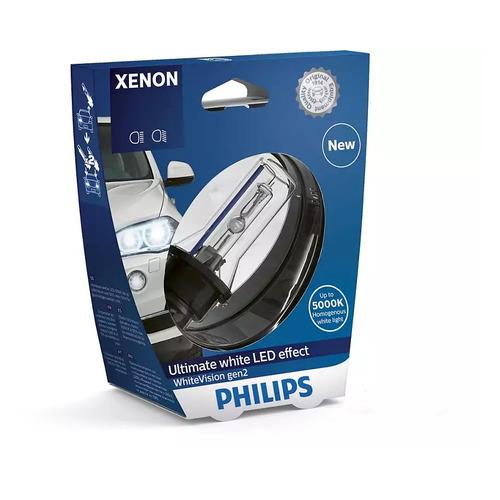 Лампа автомобильная ксеноновая PHILIPS 85415WHV2S1, D1S, 85В, 35Вт, 5000К, 1шт