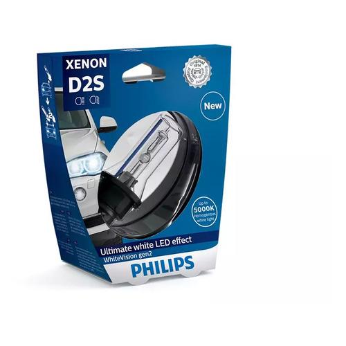 Лампа автомобильная ксеноновая PHILIPS 85122WHV2S1, D2S, 85В, 35Вт, 5000К, 1шт