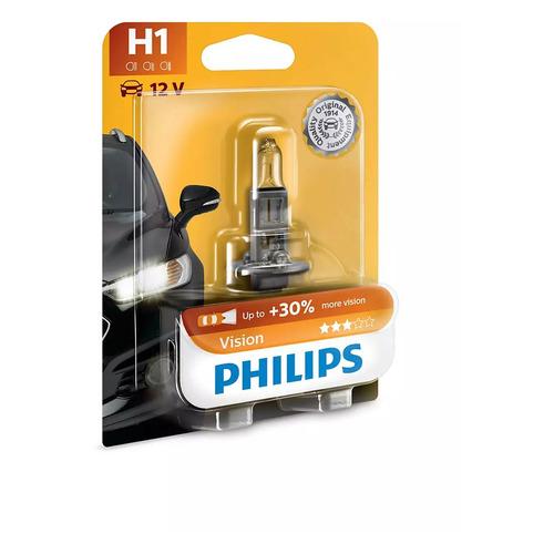 Лампа автомобильная галогенная PHILIPS 12258PRB1, H1, 12В, 55Вт, 1шт