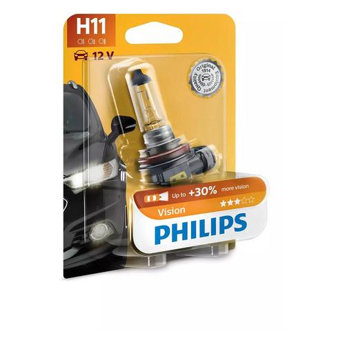 Лампа автомобильная галогенная PHILIPS 12362PRB1, H11, 12В, 55Вт, 1шт