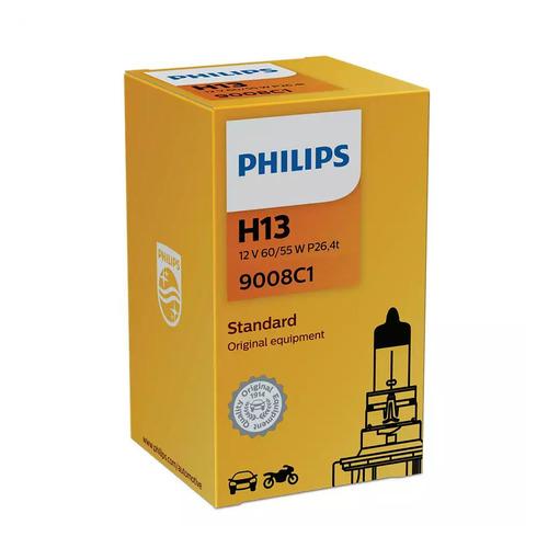 Фото - Лампа автомобильная галогенная PHILIPS 9008C1, H13, 12В, 60Вт, 1шт philips 11498xuwx2