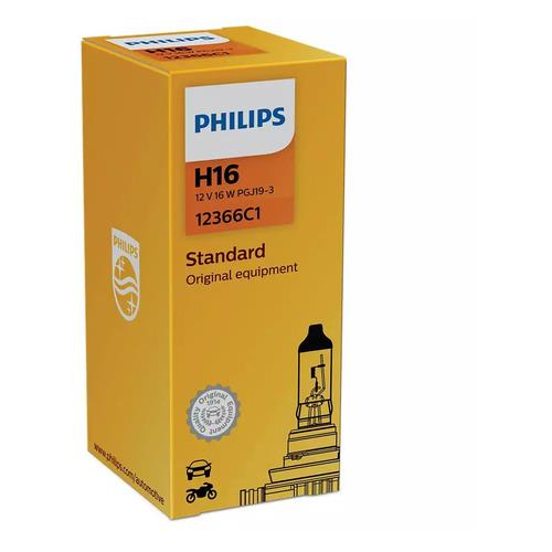 Фото - Лампа автомобильная галогенная PHILIPS 12366C1, H16, 12В, 19Вт, 1шт philips 11498xuwx2