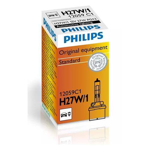 Лампа автомобильная галогенная PHILIPS 12059C1, H27W/1, 12В, 27Вт, 1шт