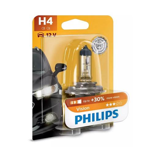 Лампа автомобильная галогенная PHILIPS 12342PRB1, H4, 12В, 60Вт, 1шт