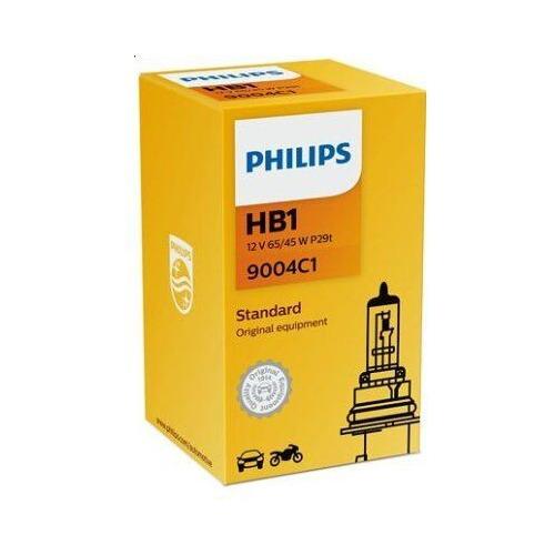 Лампа автомобильная галогенная PHILIPS 9004C1, HB1, 12В, 65Вт, 1шт