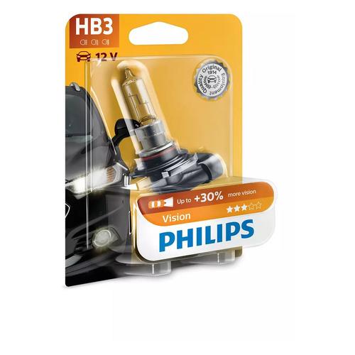 Лампа автомобильная галогенная PHILIPS 9005PRB1, HB3, 12В, 65Вт, 1шт