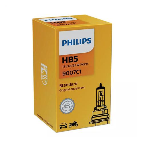 Лампа автомобильная галогенная PHILIPS 9007C1, HB5, 12В, 65Вт, 1шт