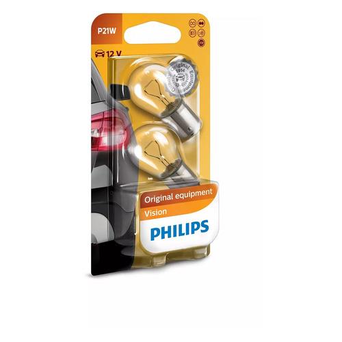 Фото - Лампа автомобильная накаливания PHILIPS 12498B2, P21W, 12В, 21Вт, 2шт philips 11498xuwx2