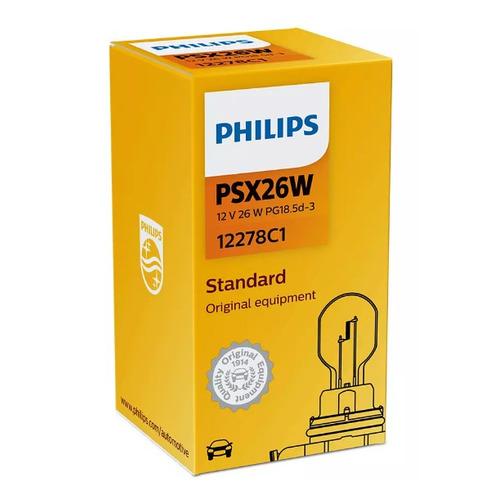 Лампа автомобильная накаливания PHILIPS 12278C1, PSX26W, 12В, 26Вт, 1шт