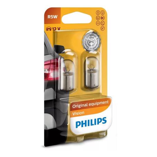 Лампа автомобильная накаливания PHILIPS 12821B2, R5W, 12В, 5Вт, 2шт