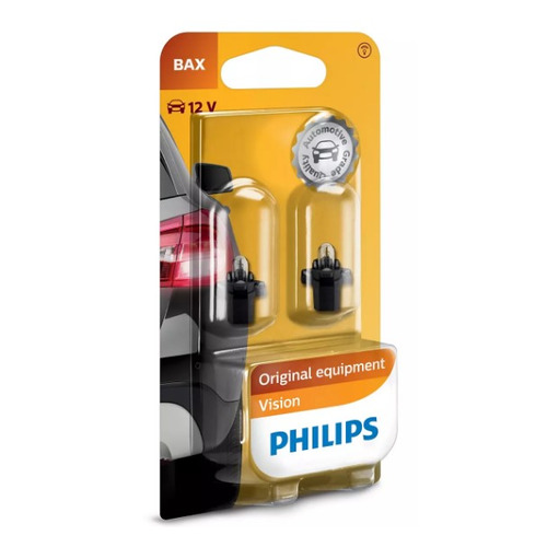 Лампа автомобильная накаливания PHILIPS 12597B2, BAX, 12В, 1.2Вт, 2шт