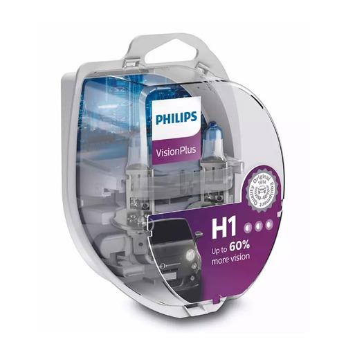 Лампа автомобильная галогенная PHILIPS 12258VPS2, H1, 12В, 55Вт, 2шт