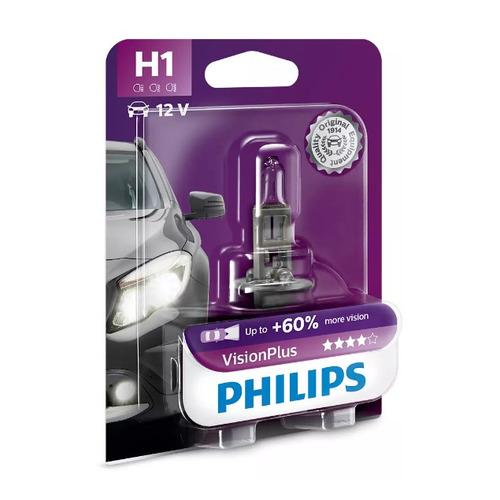 Лампа автомобильная галогенная PHILIPS 12258VPB1, H1, 12В, 55Вт, 1шт
