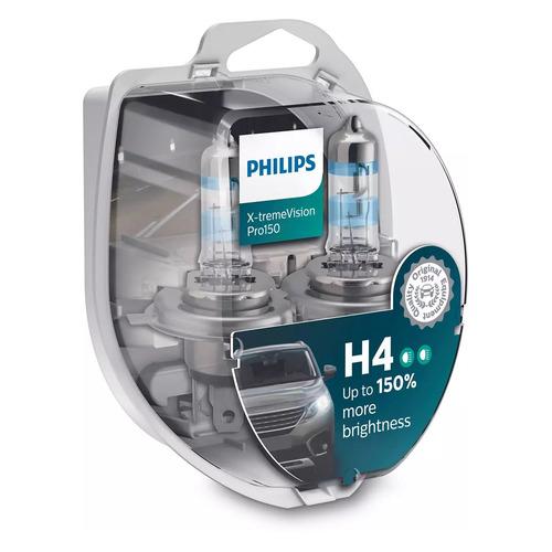 Лампа автомобильная галогенная Philips 12342XVPS2, H4, 12В, 60Вт, 2шт