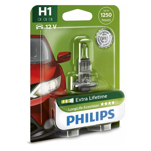 Лампа автомобильная галогенная Philips 12258LLECOB1, H1, 12В, 55Вт, 1шт