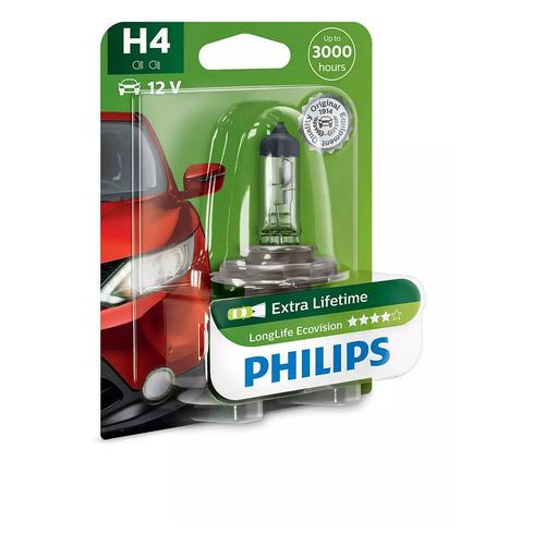 Лампа автомобильная галогенная Philips 12342LLECOB1, H4, 12В, 60Вт, 1шт