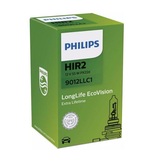 Лампа автомобильная галогенная Philips 9012LLC1, HIR2, 12В, 55Вт, 1шт