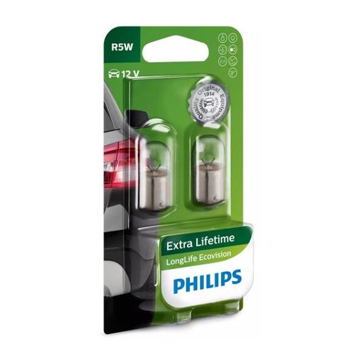 Лампа автомобильная накаливания PHILIPS 12821LLECOB2, R5W, 12В, 5Вт, 2шт