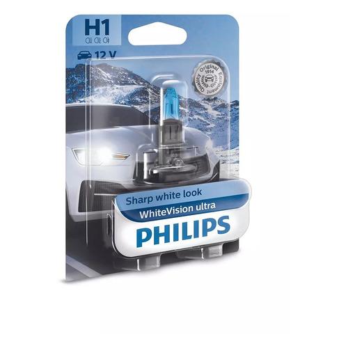 Лампа автомобильная галогенная PHILIPS 12258WVUB1, H1, 12В, 55Вт, 1шт