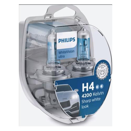 Лампа автомобильная галогенная PHILIPS 12342WVUSM, H4, 12В, 60Вт, 2шт