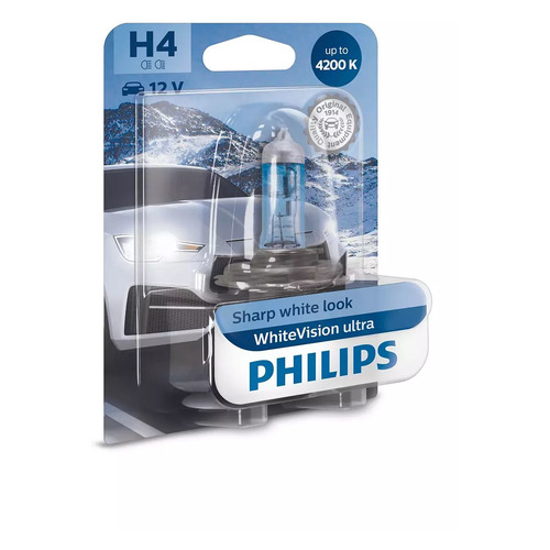 Лампа автомобильная галогенная PHILIPS 12342WVUB1, H4, 12В, 60Вт, 1шт
