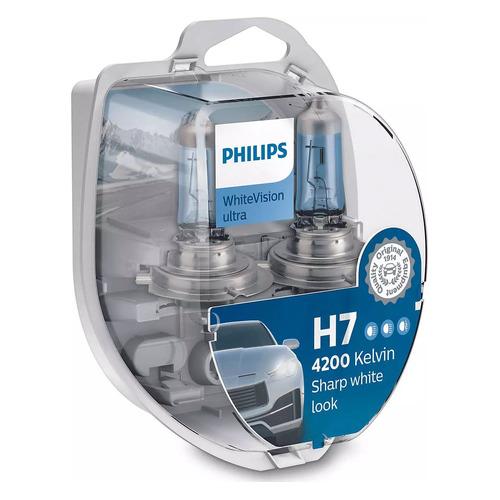 Лампа автомобильная галогенная PHILIPS 12972WVUSM, H7, 12В, 55Вт, 2шт