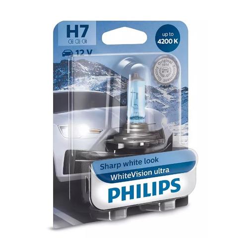 Лампа автомобильная галогенная PHILIPS 12972WVUB1, H7, 12В, 55Вт, 1шт