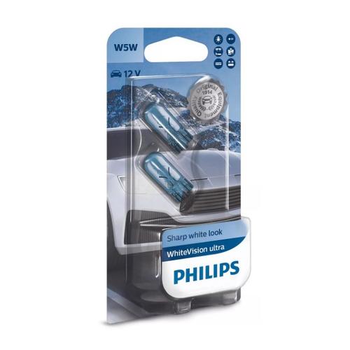 Лампа автомобильная накаливания PHILIPS 12961WVUB2, W5W, 12В, 5Вт, 2шт