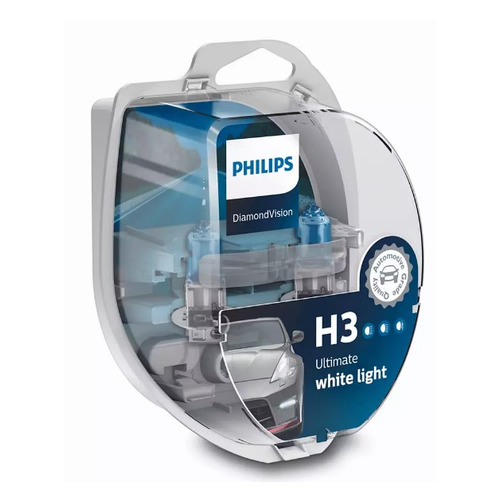 Лампа автомобильная галогенная PHILIPS 12336DVS2, H3, 12В, 55Вт, 2шт