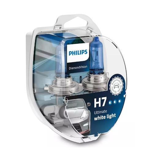 Лампа автомобильная галогенная PHILIPS 12972DVS2, H7, 12В, 55Вт, 2шт