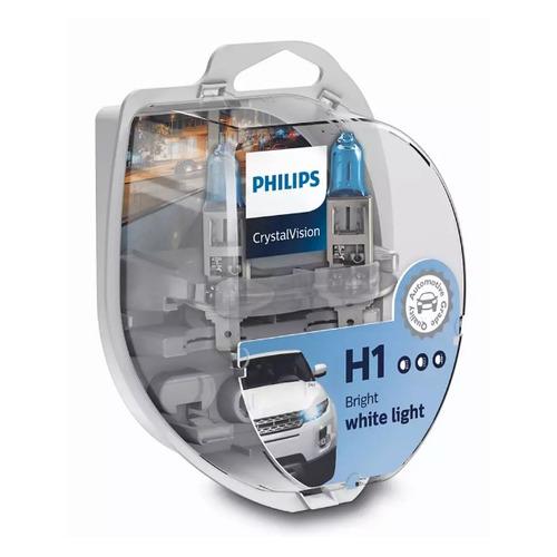Лампа автомобильная галогенная PHILIPS 12258CVSM, H1, 12В, 55Вт, 2шт