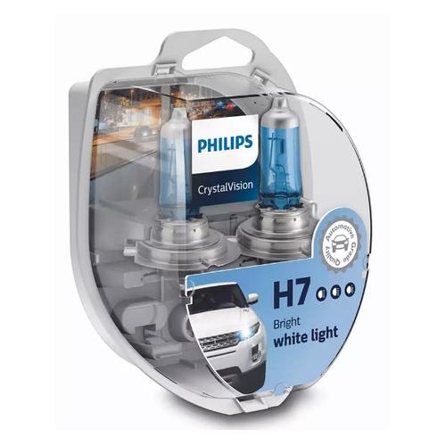 Лампа автомобильная галогенная PHILIPS 12972CVSM, H7, 12В, 55Вт, 2шт