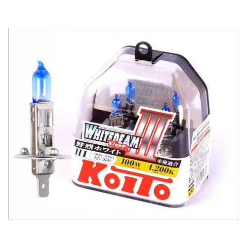 Лампа автомобильная галогенная KOITO P0751W, H1, 12В, 100Вт, 2шт