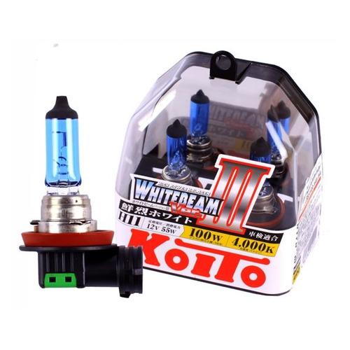 Лампа автомобильная галогенная KOITO P0750W, H11, 12В, 100Вт, 2шт