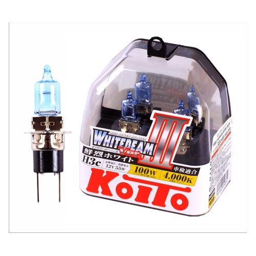 Лампа автомобильная галогенная KOITO P0753W, H3C, 12В, 100Вт, 2шт