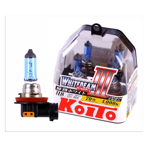 Лампа автомобильная галогенная KOITO P0758W, H8, 12В, 70Вт, 2шт