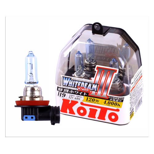 Лампа автомобильная галогенная KOITO P0759W, H9, 12В, 120Вт, 2шт