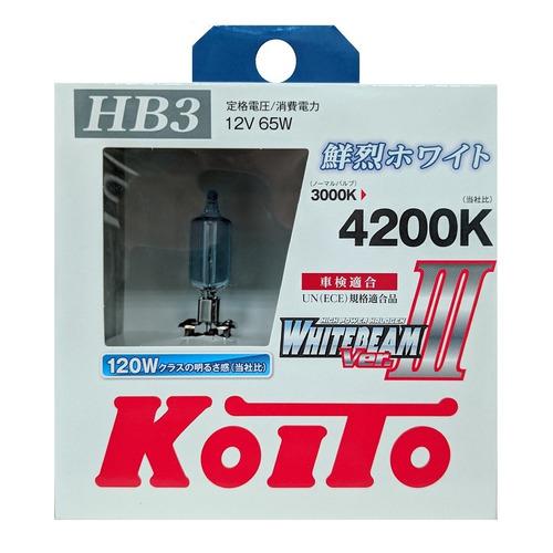 Лампа автомобильная галогенная KOITO P0756W, HB3, 12В, 120Вт, 2шт