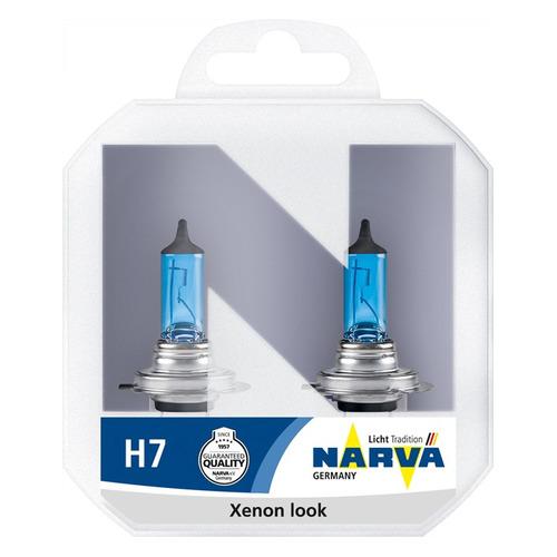 Лампа автомобильная галогенная NARVA 48607, H7, 12В, 55Вт, 2шт