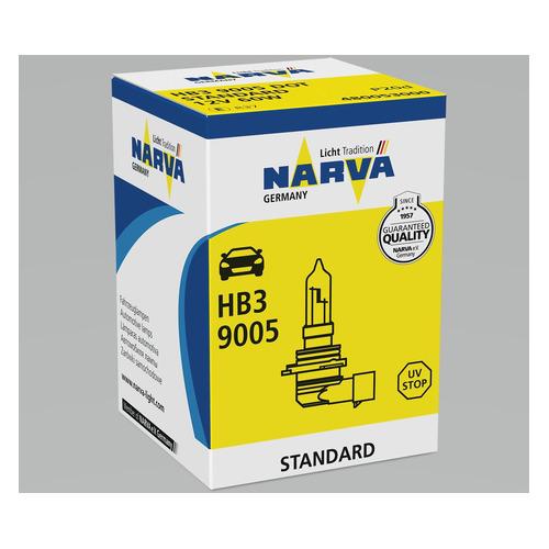Лампа автомобильная галогенная NARVA 48025, HB3, 12В, 100Вт, 1шт