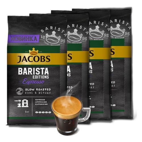 Кофе зерновой JACOBS MONARCH Barista Editions Espresso, темная обжарка, 4000 гр [8052094]