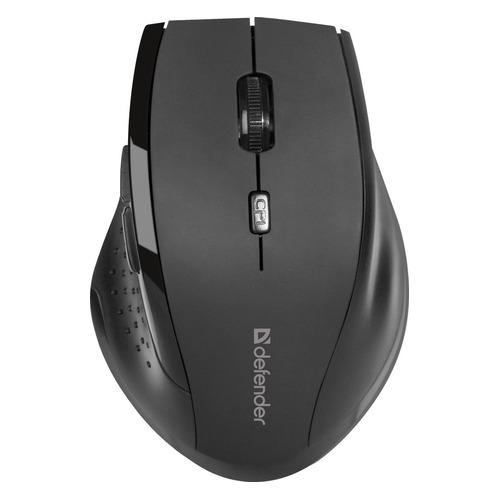 Мышь DEFENDER Accura MM-365, оптическая, беспроводная, USB, черный [52365] беспроводная мышь defender accura mm 665 usb red