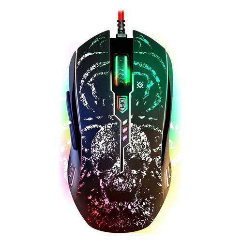 Мышь DEFENDER Invoker GM-947, игровая, оптическая, проводная, USB, черный [52947] недорого