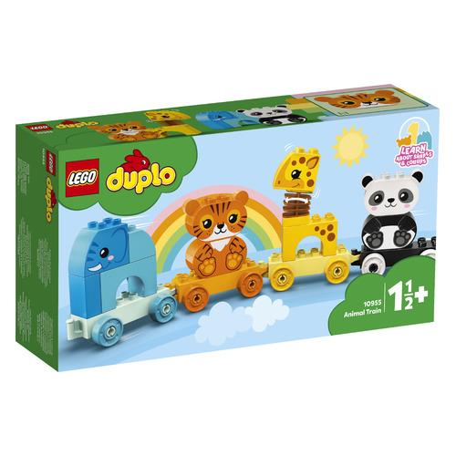 Фото - Конструктор LEGO Duplo My First Поезд для животных, 10955 конструктор lego duplo my first поезд для животных 10955